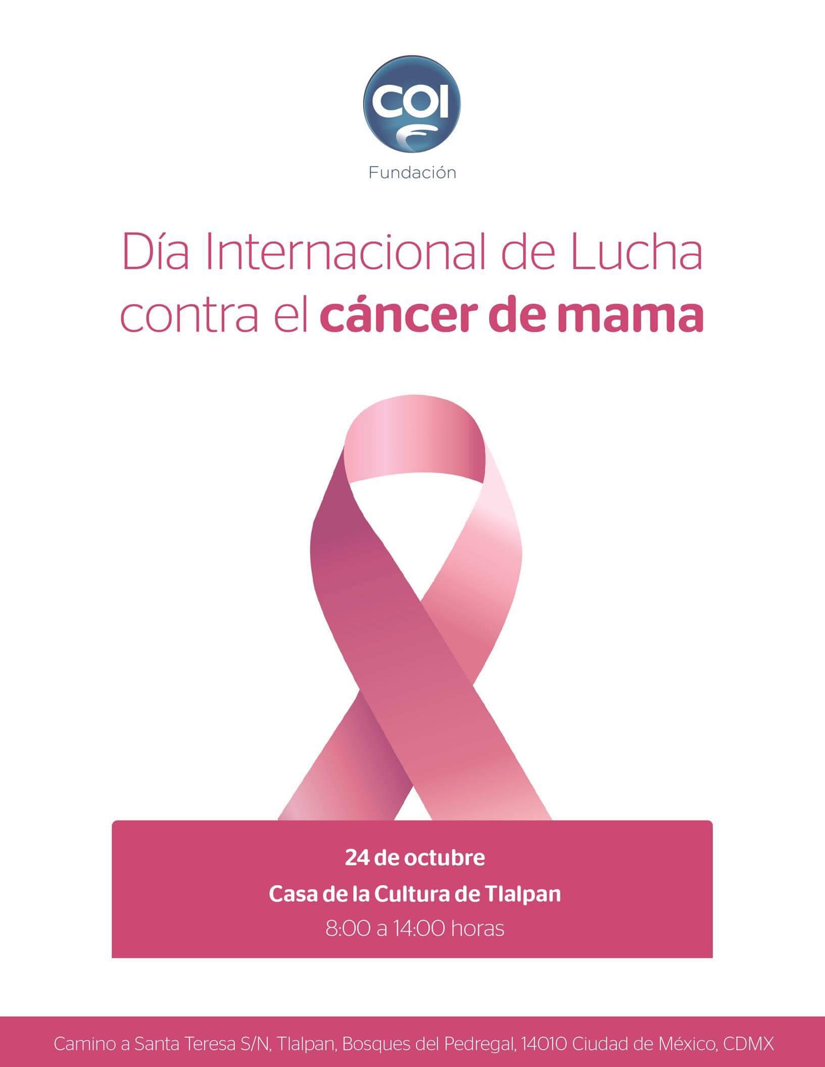COI conmemora el Día Internación de Lucha contra el Cáncer de Mama