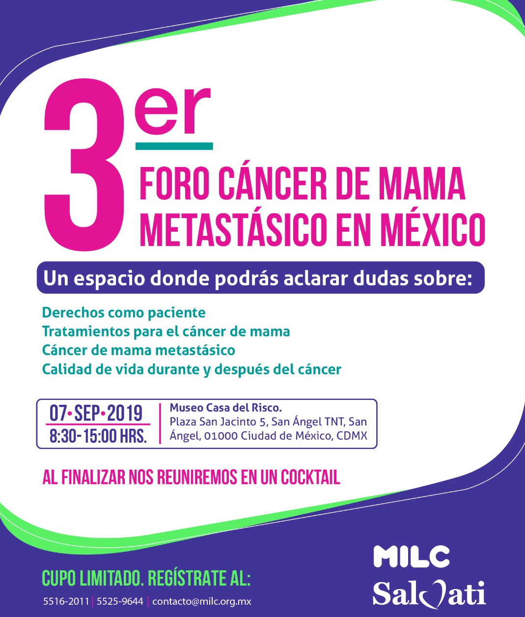 Invitación 3er Foro Cáncer de Mama Metastásico en México
