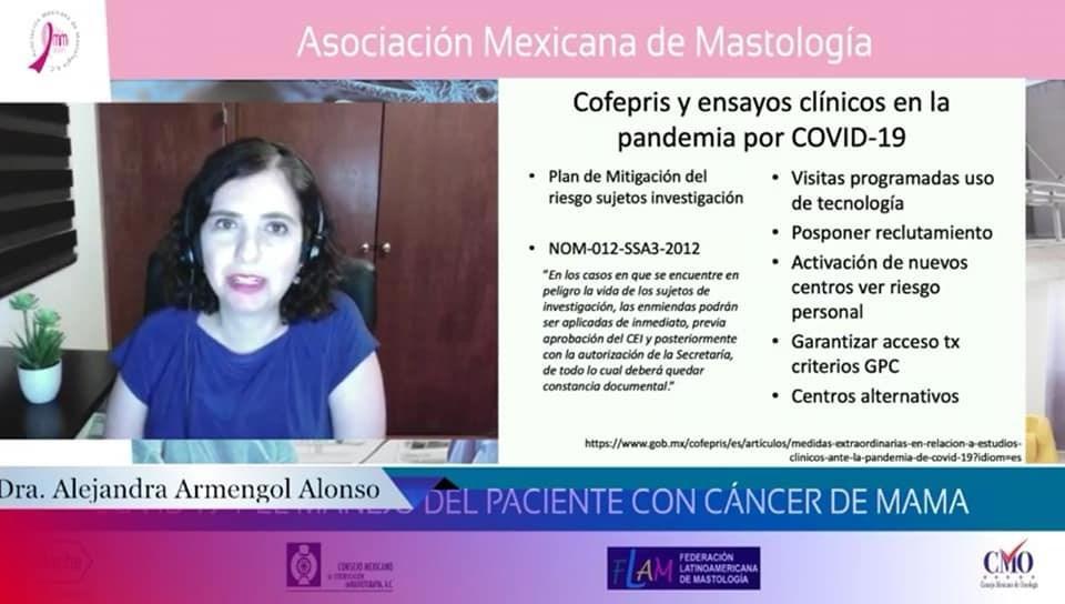 La AMM presentó 4 Sesiones Académicas con el tema:COVID-19 y EL MANEJO DEL PACIENTE CON CÁNCER DE MAMA
