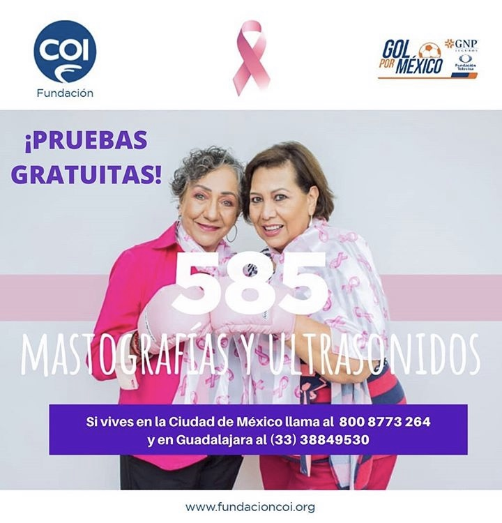 """Fundación COI apoya a mujeres de bajos recursos con mastografías y ultrasonidos a través del programa """"Gol por México"""""""
