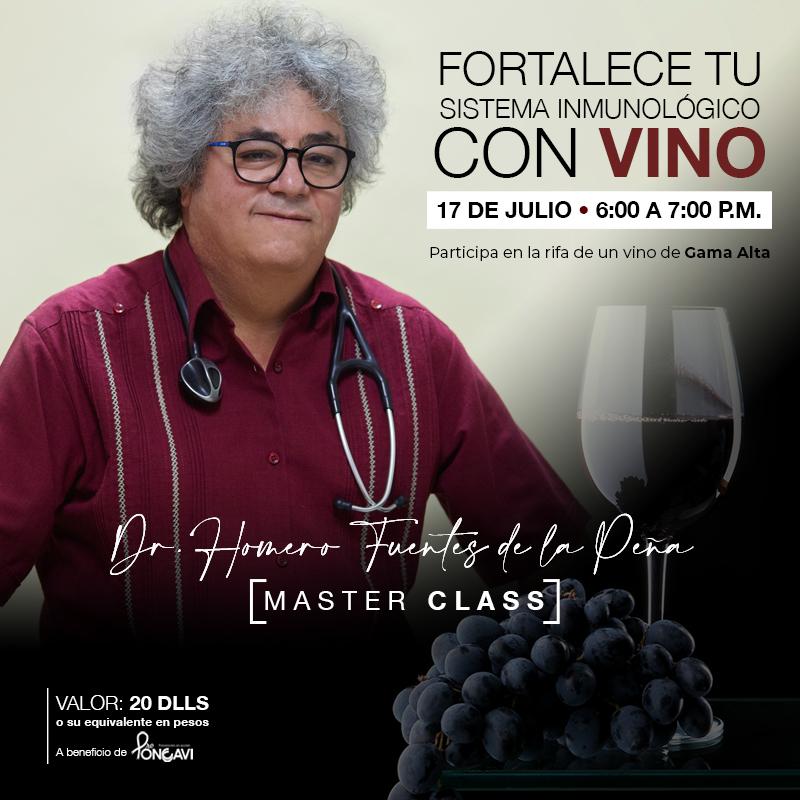 """Pro Oncavi organiza evento """"Fortalece tu sistema inmunológico con vino"""""""