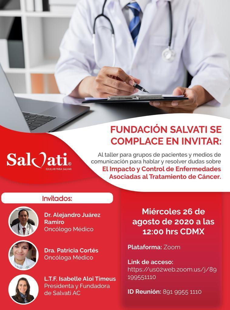 """Salvati organiza foro """"El impacto y control de enfermedades asociadas al tratamiento de cáncer"""""""