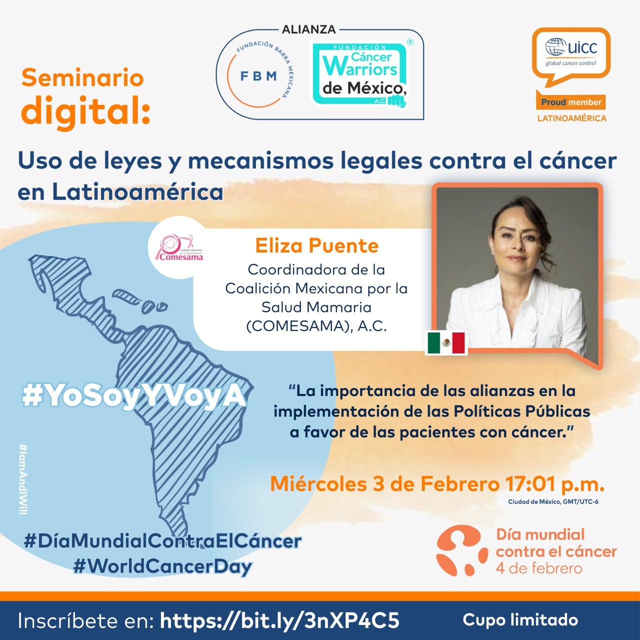 En el marco del Día Mundial del Cáncer la UICC nos invita 2 y 3 de febrero a Seminario Virtual