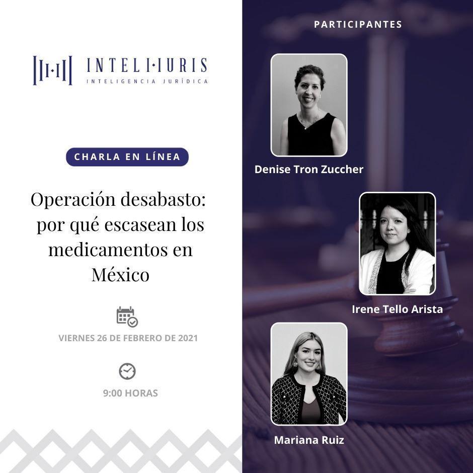 """Se realizó charla en línea """"Operación desabasto: por qué escasean los medicamentos en México"""""""
