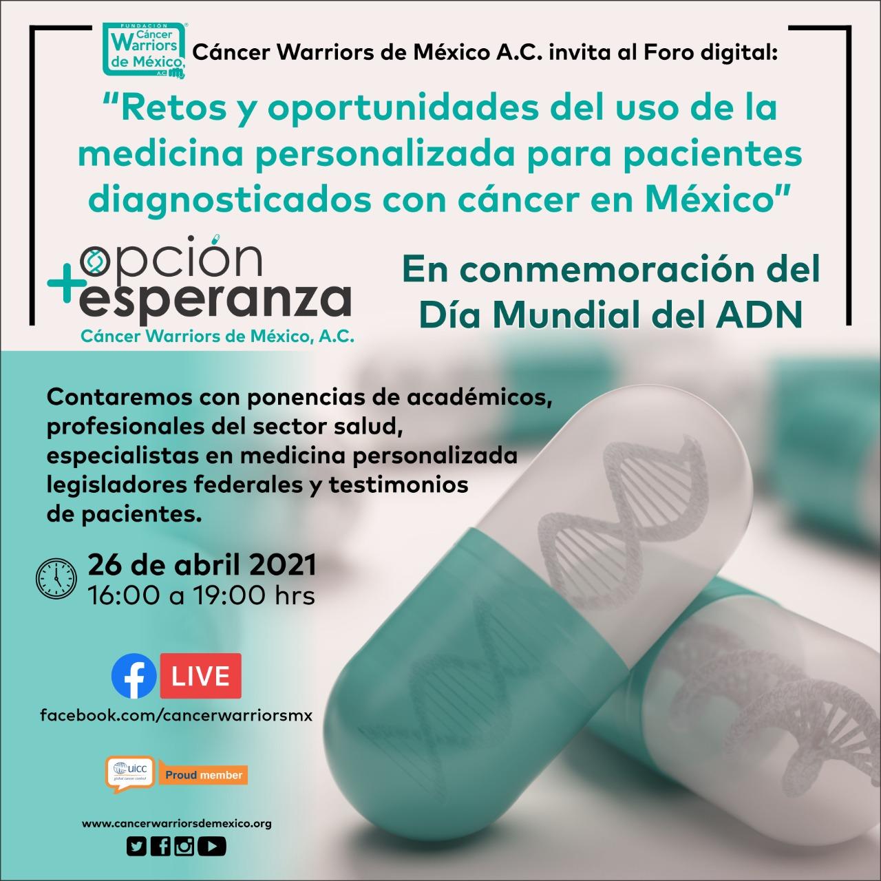 """CWM realiza Foro Digital: """"Retos y oportunidades del uso de la medicina personalizada para pacientes diagnosticados con cáncer en México"""""""
