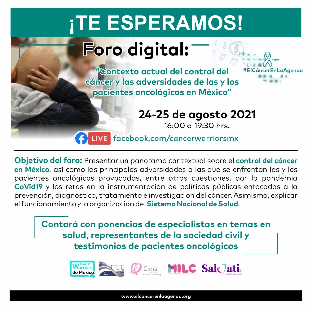 CWM  realiza foro de dos días, como etapa dos de la iniciativa #ElCáncerEnLaAgenda
