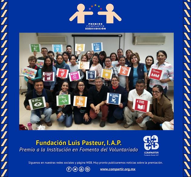 Fundación Luis Pasteur gana el premio a la Institución de Fomento del voluntariado