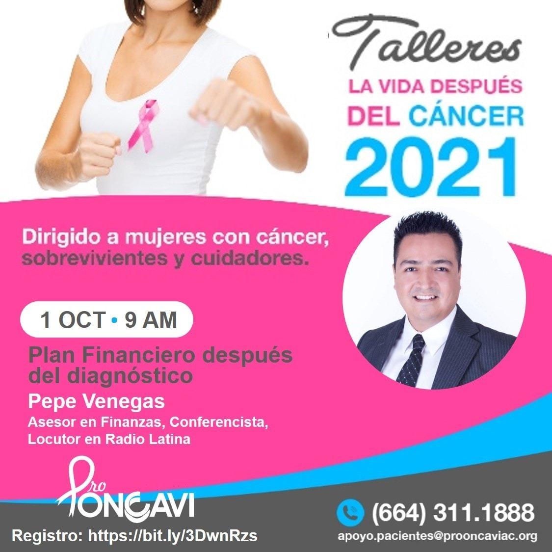 Invitan ProOncavi y Alianza Rosa a Talleres para pacientes